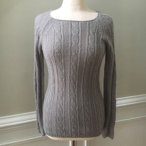 J. Crew Dolce Wool Mohair Cable Knit  Sweater